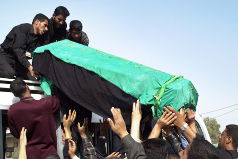 Image: Coffin of Baghdad blast victim