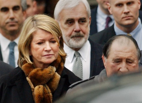 STEWART AND LEGAL TEAM LEAVE COURT AFTER GUILTY VERDICT