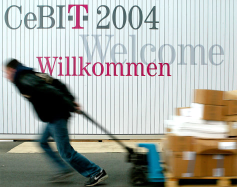Image: Deutsche Telekom CeBit sign