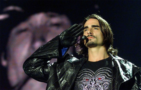 BACKSTREET BOYS KEVIN RICHARDSON PERFORMS IN CARACAS