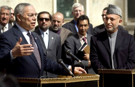 U.S. Secretary of State Colin Powell Visits Kabul