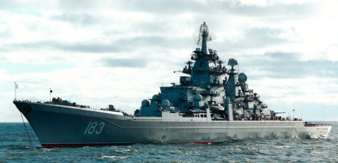 Image: Russian nuclear-powered missile cruiser