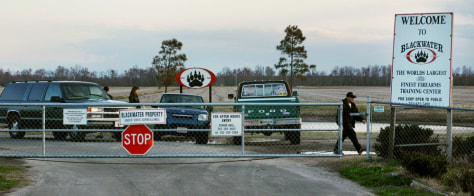 IMAGE: BLACKWATER SECURITY FACILITY IN MOYOCK, N.C.