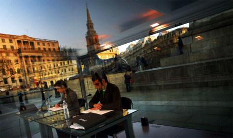 """Reading One Million Years"" Art In Trafalgar Square"