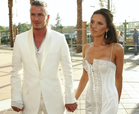 Image: David and Victoria Beckham