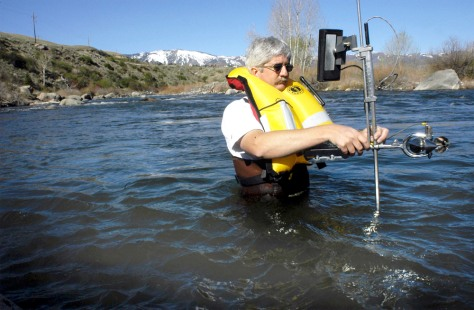 WATER MEASURED ON TRUCKEE RIVER