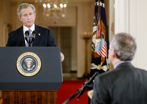 BUSH ANSWERS FIRST QUESTION DURING NATIONALLY TELEVISED NEWS CONFERENCE