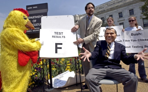 Theater Group Questions President Bush's Stand On Testing Beef