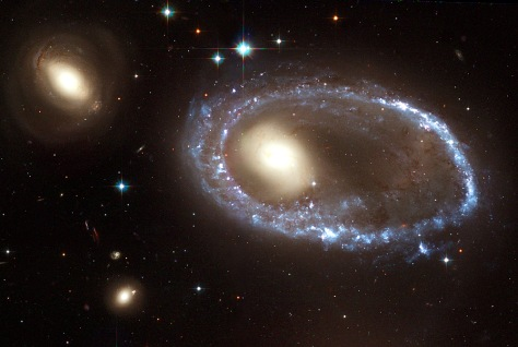 Image: Hubble image of ring galaxy