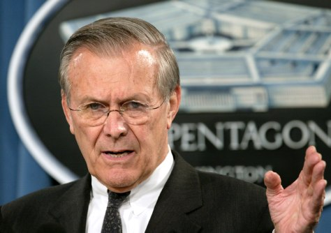 SECRETARY OF DEFENSE DONALD RUMSFELD SPEAKS AT THE PENTAGON