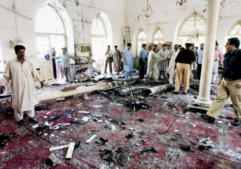 IMAGE: Pakistan mosque blast