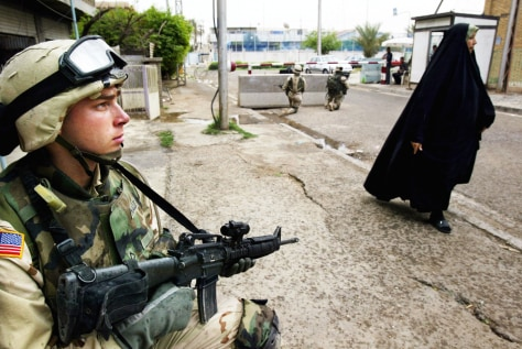U.S. Troops Patrol The Streets Of Baghdad