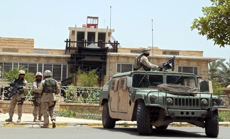 IMAGE: U.S. SOLDIERS GUARD CHALABI RESIDENCE