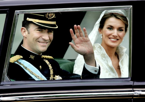 Image: Spanish Crown Prince Felipe and his new bride.