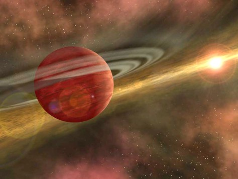 Artist's conception of young planet