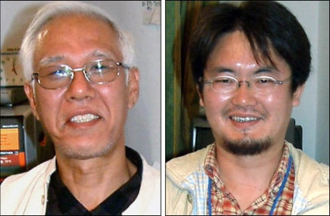 Image: Photographs of Japanese journalists feared dead.