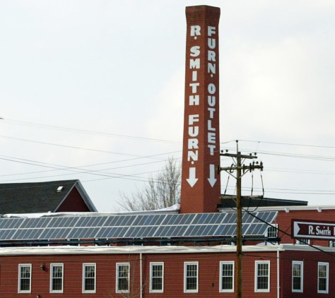 FURNITURE STORE WITH SOLAR PANELS