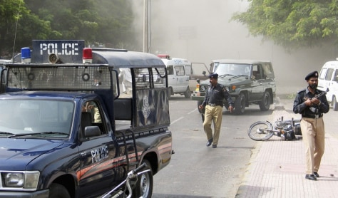 IMAGE: Attack in Karachi