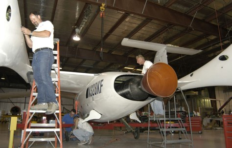 Image: SpaceShipOne preparation