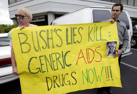 Seattle Activists Protest Bush AIDS Policies