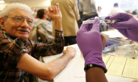 Image: Senior flu shots