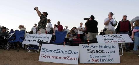 Image: SpaceShipOne spectators