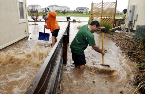 FLOODED COLORADO NEIGHBORHOOD