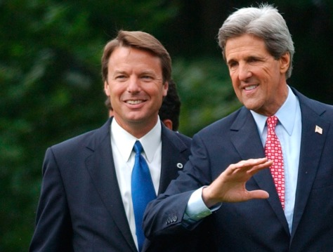 JOHN KERRY AND EDWARDS APPEAR TOGETHER FOR FIRST TIME
