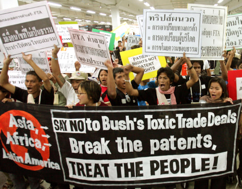 ACTIVISTS STAGE PROTEST AT 15TH INTERNATIONAL AIDS CONFERENCE IN BANGKOK