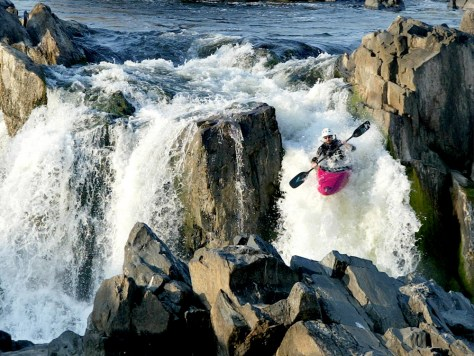 kayaker at Great Falls of Potomac