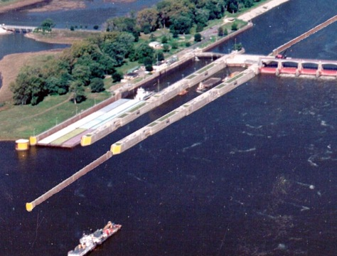 ILLUSTRATION OF NEW LOCK ON MISSISSIPPI RIVER