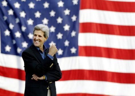 John Kerry speaks on Main Street campaign rally in Hannibal Missouri