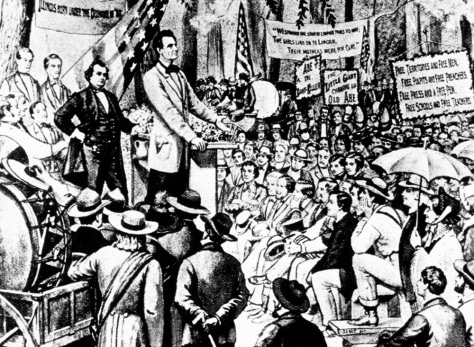 ILLUSTRATION: Lincoln-Douglas debates of 1858