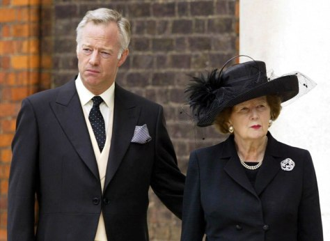 Image: Mark and Margaret Thatcher.