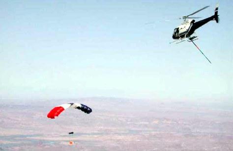 test of midair retrieval