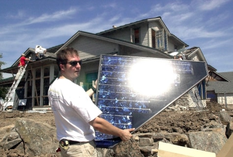 BUILDER WITH SOLAR PANEL
