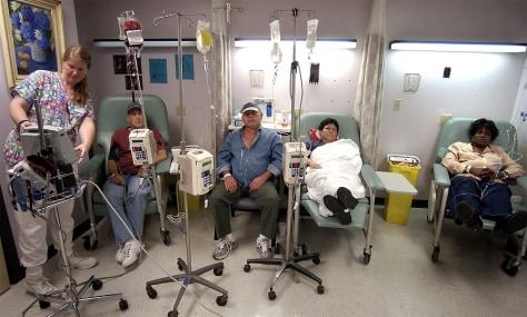 Image: Nurse administering chemotherapy