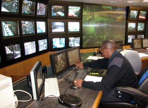 Image: CCTV control room.