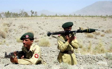 IMAGE: Pakistani troops