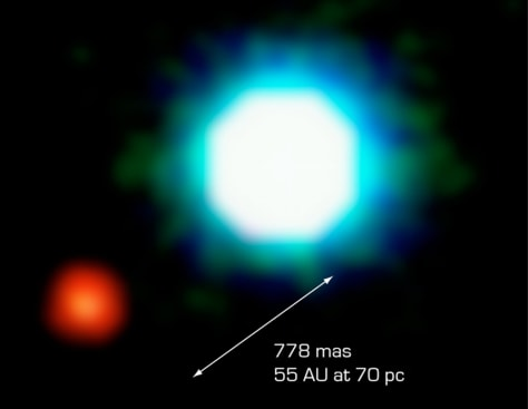 Image: Brown dwarf and planet