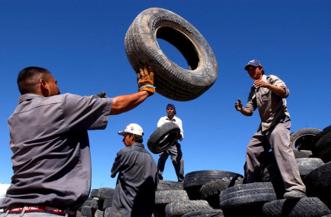 TRASHED TIRES IN CIUDAD JUAREZ
