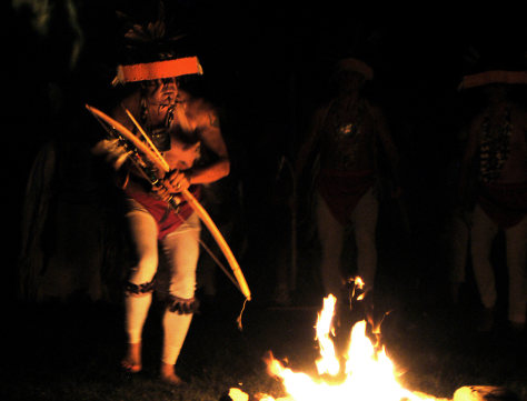 TRIBESMAN IN WAR DANCE