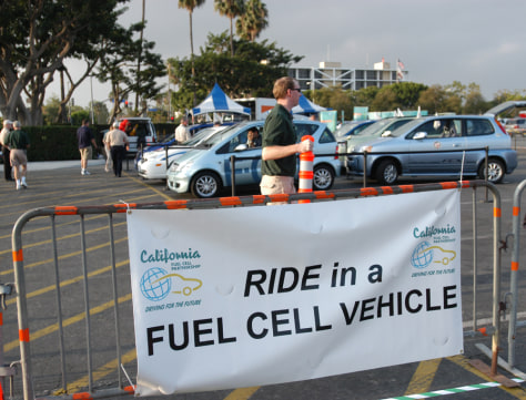 FUEL CELL CARS AT FAIRGROUNDS