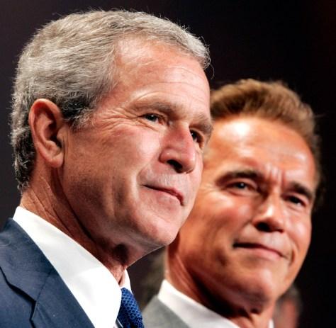 IMAGE: Bush and Schwarzenegger