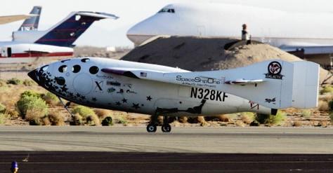 Image: SpaceShipOne landing