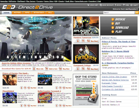 Direct2Drive site