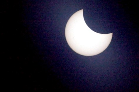 Image: Partial solar eclipse