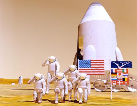 Image: Mars landing