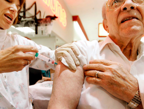 Elderly and high risk patients receive flu vaccine in Northern Virginia