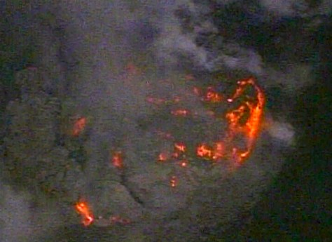 Lava Gives St Helens Red Glow At Night Us News Nbc News